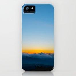 sunrise above the clouds iPhone Case