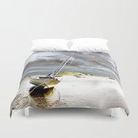 boat Duvet Covers featuring Boat by Gouzelka