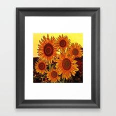 sunflowers family Framed Art Print