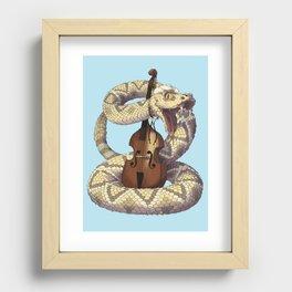 D is for Diamondback Rattlesnake, Western Recessed Framed Print