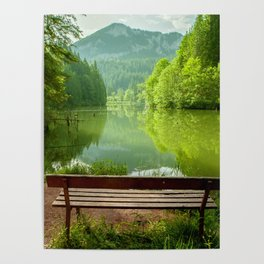 Red Lake with mountains, Romania Poster