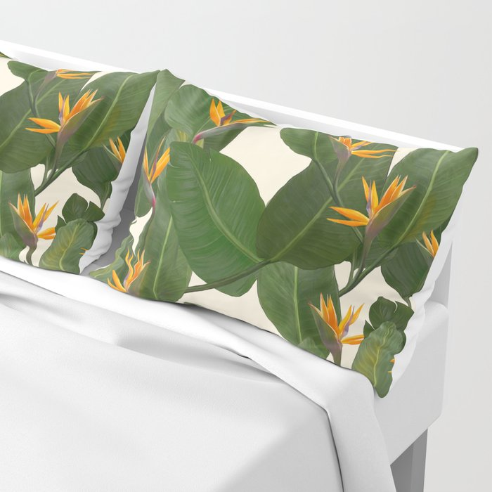 tropical floral Pillow Sham