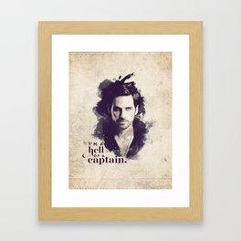 A Hell of a Captain Framed Art Print