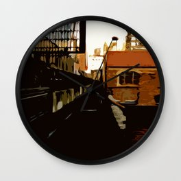 New York Rails  Wall Clock
