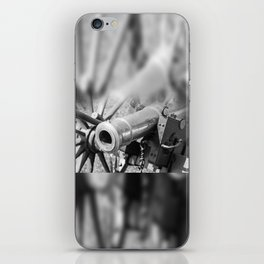 The cannon (black & white version) iPhone Skin