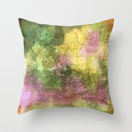 Snail trails on colorful bark Throw Pillow