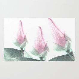 Pastel Pink Floral Beauty Rug