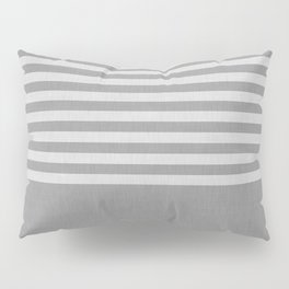 Gray color block and stripes Pillow Sham