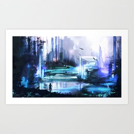 Crystal hunter Art Print