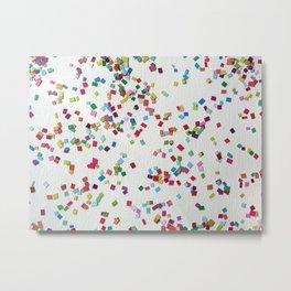 Confetti by Robayre Metal Print