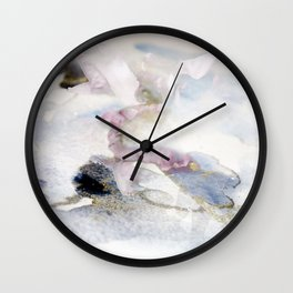 flower in the snow Wall Clock