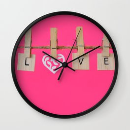 LOVE is the Word Wall Clock
