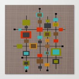 Mid-Century Modern Squares Pattern Canvas Print