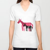 mom V-neck T-shirts featuring Thanks Mom by That's So Unicorny