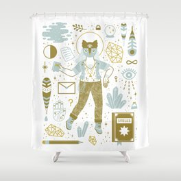 The Scholar Shower Curtain