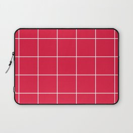 White Grid - Red BG Laptop Sleeve