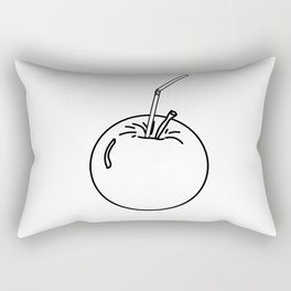 an Apple and a straw ( https://society6.com/totalflora/collection ) Rectangular Pillow