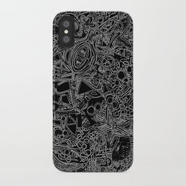 White/Black #1 iPhone Case