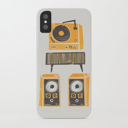 Vinyl Deck And Speakers iPhone Case