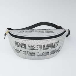 New York (photo filled type on white) Fanny Pack