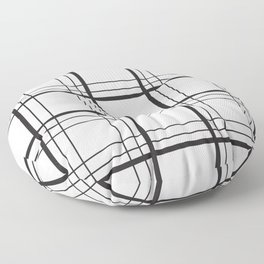 Checkered black and white classic pattern Floor Pillow