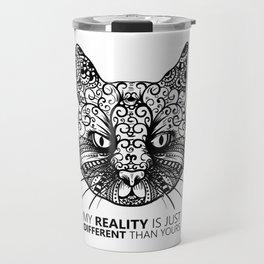 Different Reality Cat Travel Mug