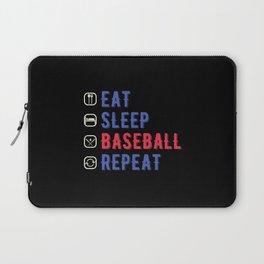 Funny Eat Sleep Baseball Repeat Laptop Sleeve
