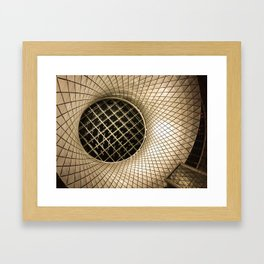 Gold Lines Framed Art Print