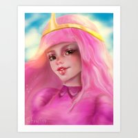 princess bubblegum Art Prints featuring Princess Bubblegum by ChrySsV