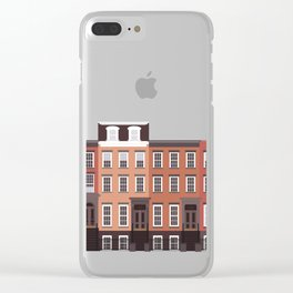 West Village, New York, NYC Travel Poster Clear iPhone Case