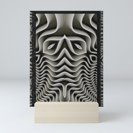 Exo-skelton 3D Optical Illusion Mini Art Print