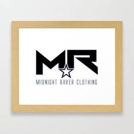 Midnight Raver Logo Framed Art Print