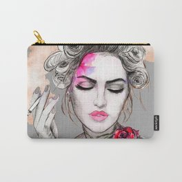 Tender girl, flowers and smoke. #picture Carry-All Pouch