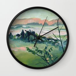 Suspended Land - Abstract Landscape #14 Wall Clock