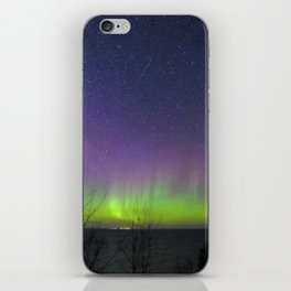 Aurora Borealis over Lake Superior iPhone Skin
