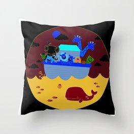 Noah's Arc Throw Pillow
