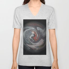 Abstract 132 Unisex V-Neck