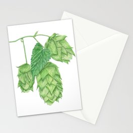 Beer Hop Flowers Stationery Cards