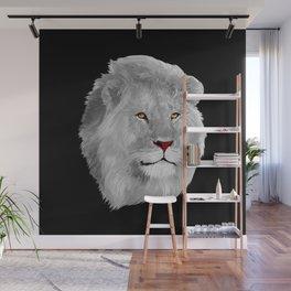 Albino Lion Wall Mural