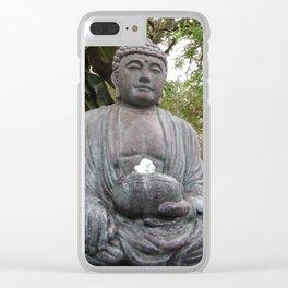 Buddha Statue Clear iPhone Case