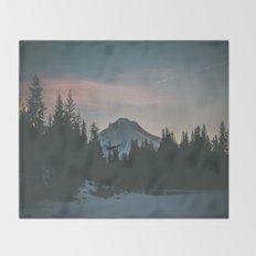 Frozen Mirror Lake Throw Blanket