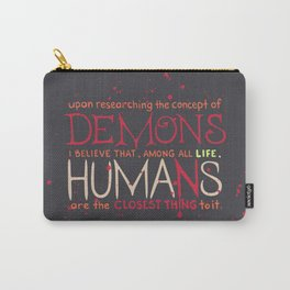 Parasyte Quote Typography Carry-All Pouch