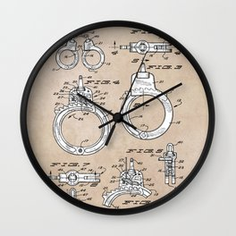 patent art Foley Secret Release Handcuffs 1966 Wall Clock