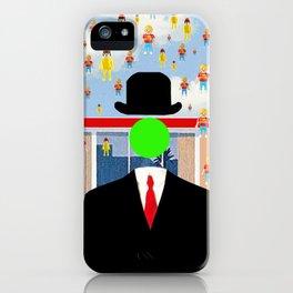 Magritte illustration iPhone Case