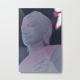NEON BUDDHA Metal Print