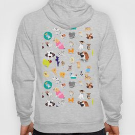 Pattern of dogs, adorable and friendly animal. Hoody