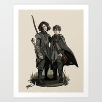 thrones Art Prints featuring Crannogmen - Game of Thrones by Munkel
