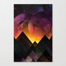 Whimsical mountain nights Canvas Print