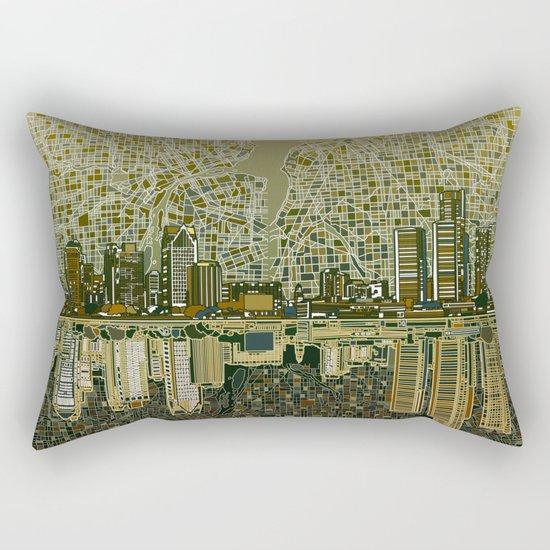 detroit city skyline Rectangular Pillow