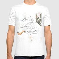 L.W.T.U.A (Love will tear us apart) White MEDIUM Mens Fitted Tee